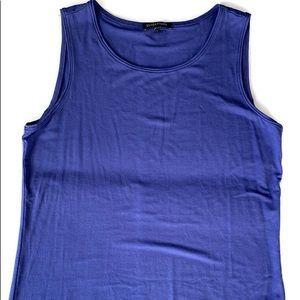 Eileen fisher size medium sleeveless purple blouse